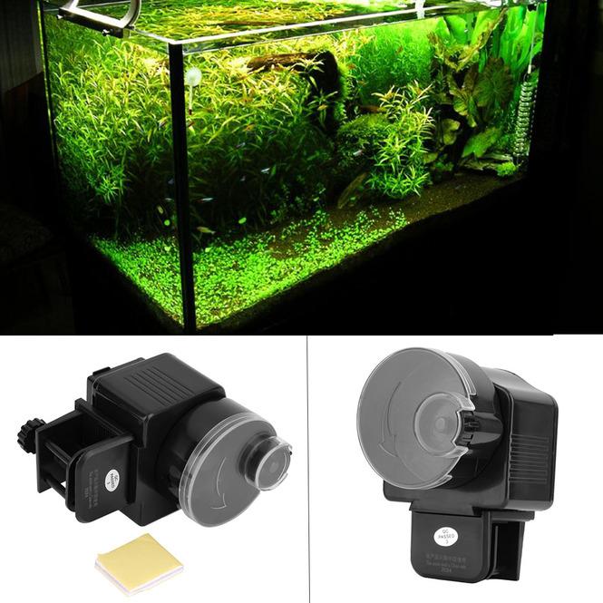 Digital automatic fish feeder aquarium tank electronic for Automatic fish tank feeder