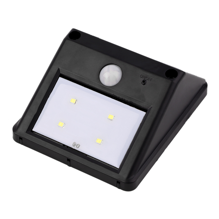 Wall Lamps With Pir : Outdoor Solar Powered 4-LED PIR Motion Sensor Wall Lighting Garden Lamps Deco #B eBay