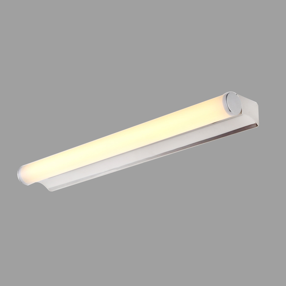 Modern Minimalist Bathroom Mirror: Modern Minimalist LED Light Bathroom Bedroom PC Round