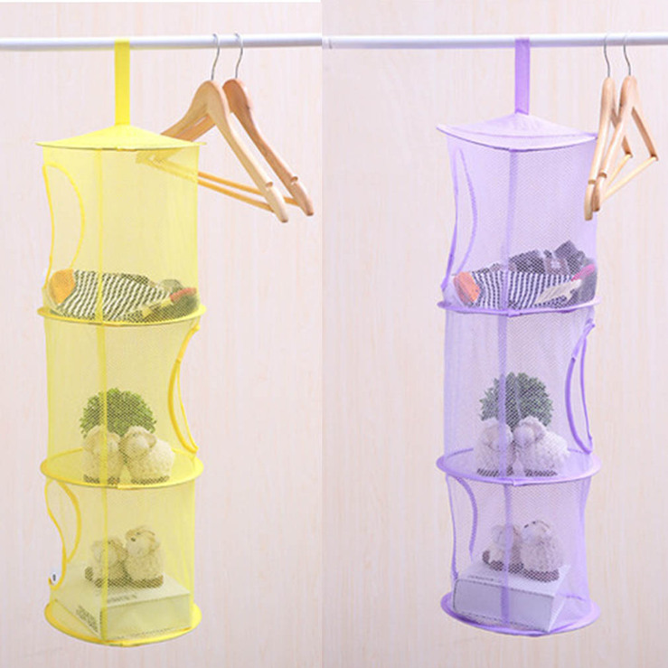 3-Layers-Organizer-Mesh-Storage-Bags-Space-Hanging- & 3 Layers Organizer Mesh Storage Bags Space Hanging Basket Clothes ...