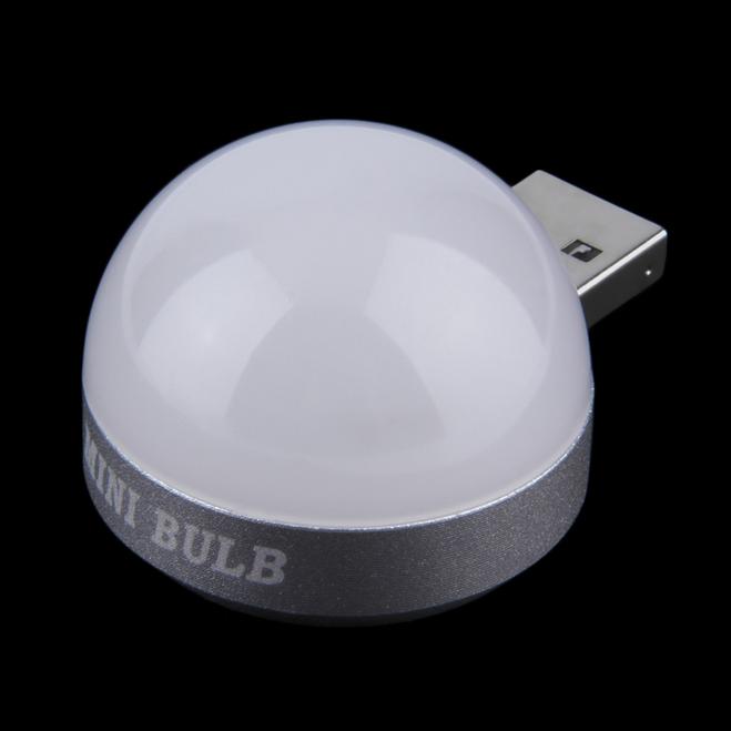 aluminum base round 4led usb night light lamp soft white light new op. Black Bedroom Furniture Sets. Home Design Ideas