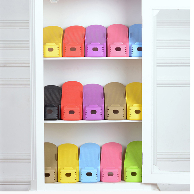 1 pc display rack shoes organizer space saving - Shoes Organizer