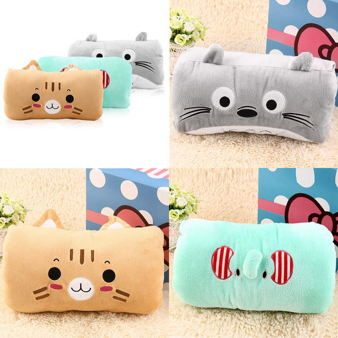 Cute Pillow Warmer : 1 PC Sweet Animals Cartoon Soft Hand Warmer & Cushion Pillow 2in1 Plush Toy MON