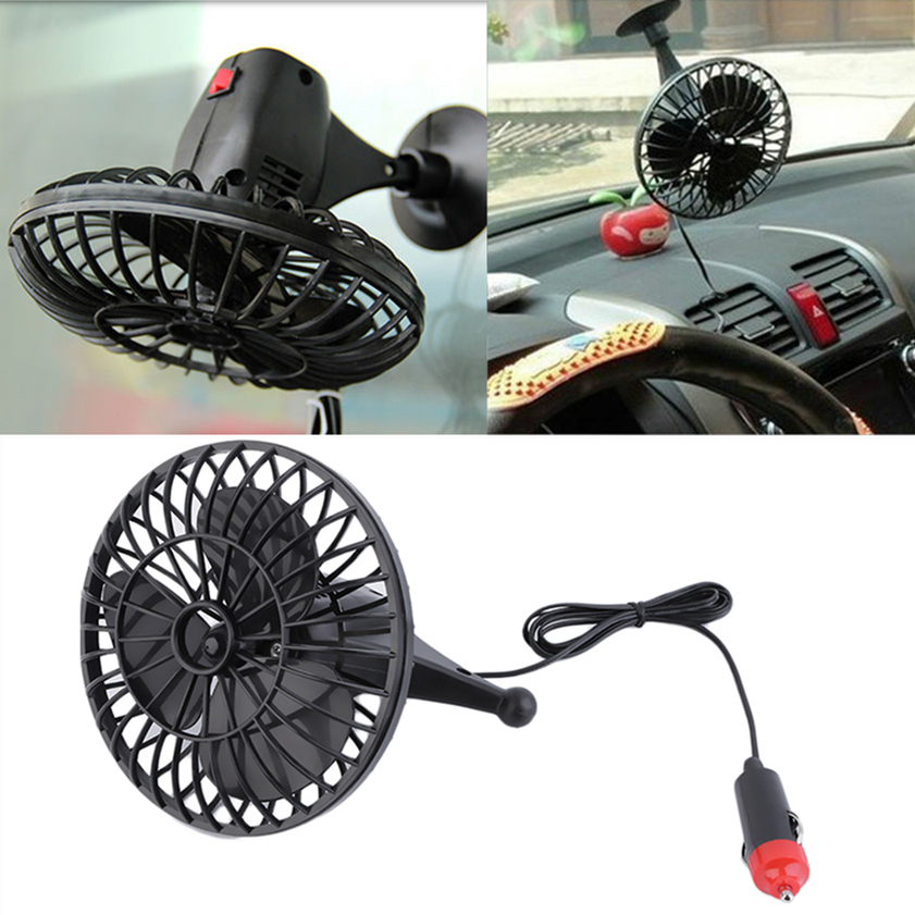 Small Air Fans : V inch summer mini air fan car vehicle cooling suction