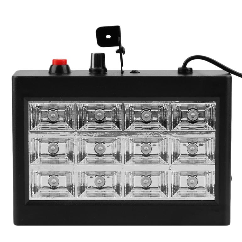 rgb 12leds sound activated strobe flash light stage effect lighting us. Black Bedroom Furniture Sets. Home Design Ideas