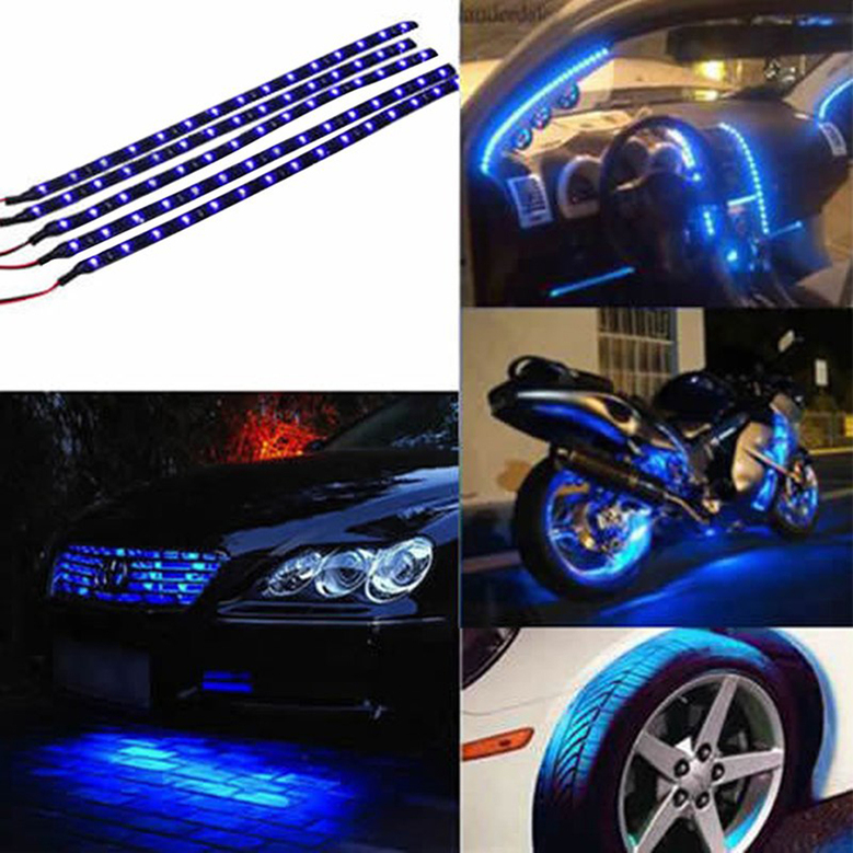 30cm waterproof 15 blue led car vehicle motor grill flexible light 30cm waterproof 15 blue led car vehicle motor grill flexible light strips 12v ls 898517275949 ebay aloadofball Images