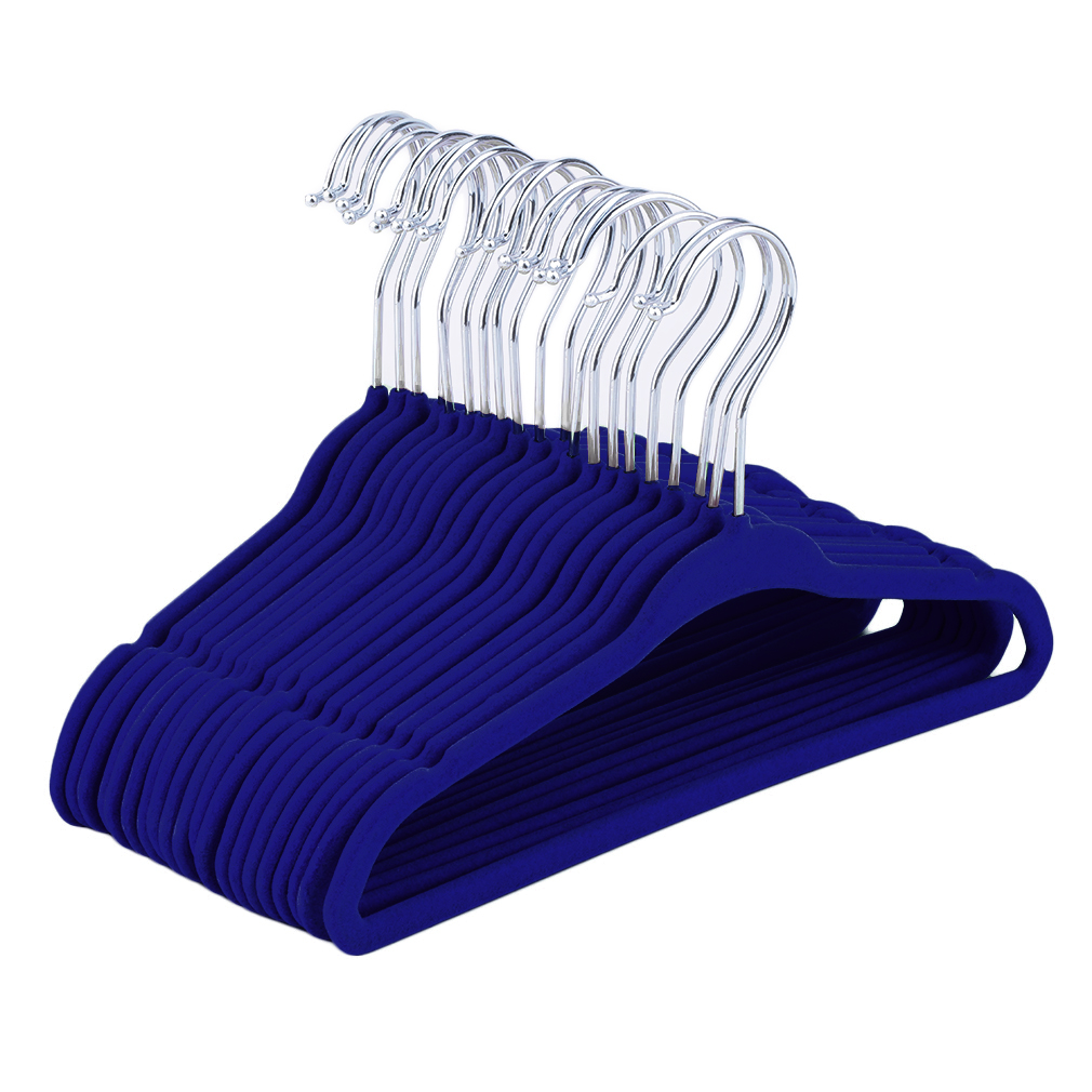 Wholesale Flocked Non Slip Velvet Clothes Hangers Suit ...
