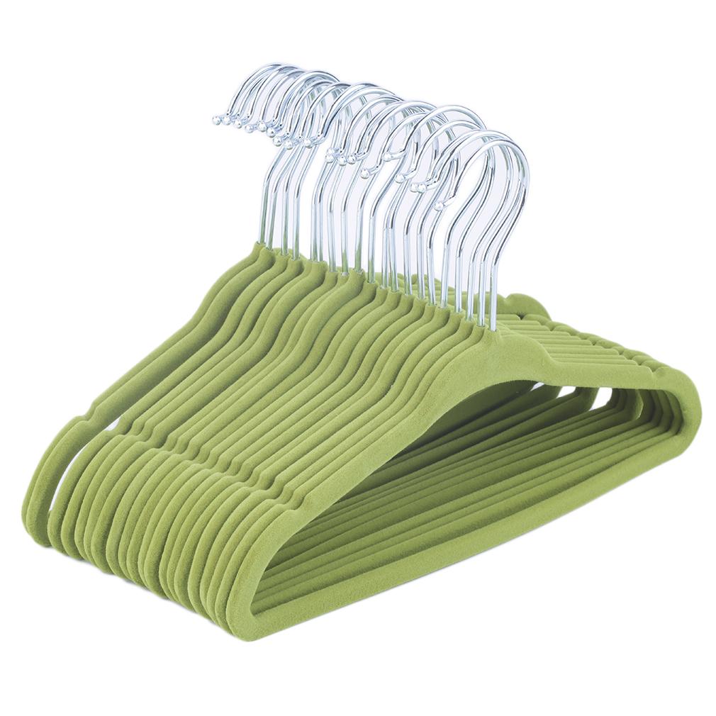 Wholesale Flocked Non Slip Velvet Clothes Hangers Suit ...