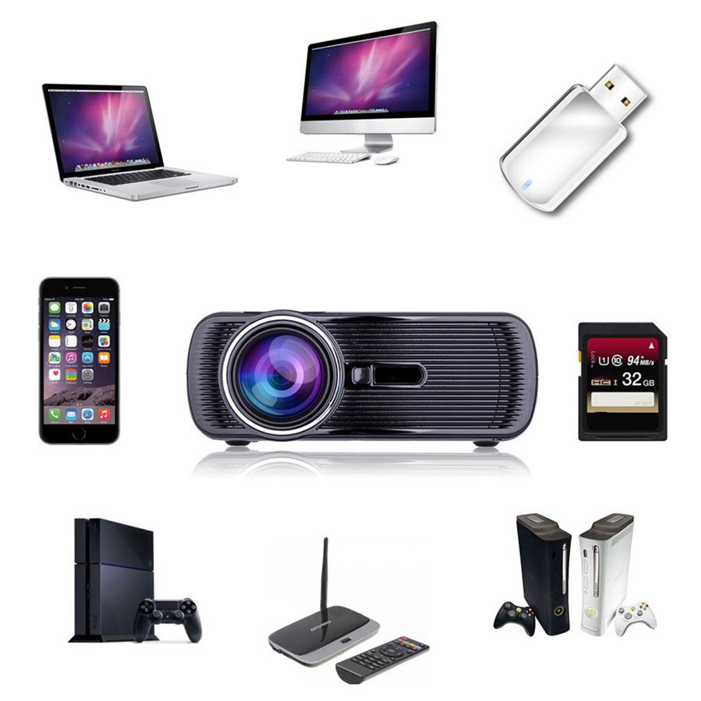 2500 Lumens Mini 3D Home Cinema Theater LED Projector 1080P FHD HDMI USB AV/VGA | eBay