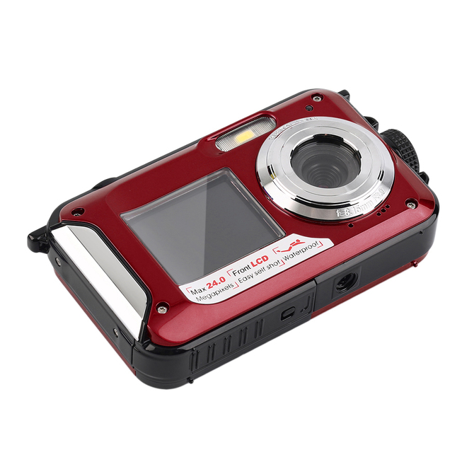 Appareil photo numérique étanche 24MP MAX 1080P Double ...