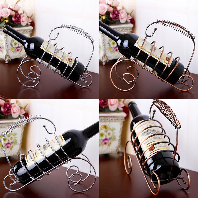 Modern Style Wine Bottle Holder Hanger Red Wine Rack Support Bracket New AU 3